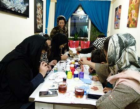 کارگاه نقاشی روی پارچه ویژه بانوان10-وحیده فتحی