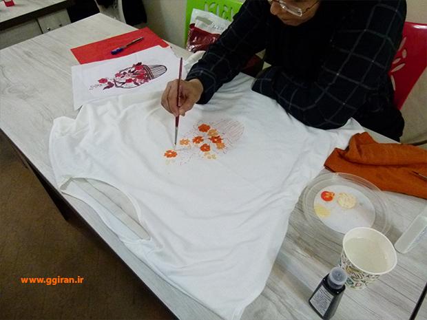 کارگاه نقاشی روی تی شرت ویژه بانوان 28فروردین 98