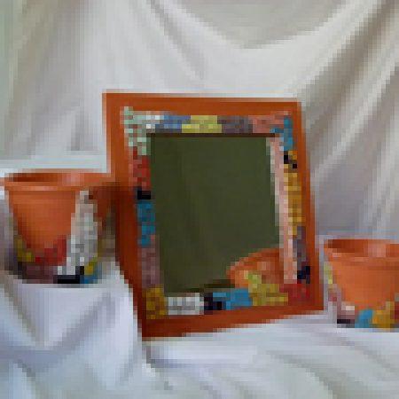 مجموعه ی گلدان وآینه 1