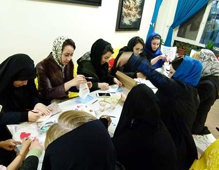 کارگاه نقاشی روی پارچه ویژه بانوان7-وحیده فتحی